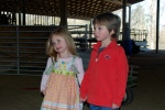 Landon & Savannah waiting for the Wagon Ride